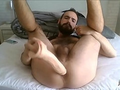 Me gaping hole with my big dildo!