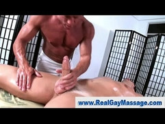 Weak willed straight guy turned on by gay massage