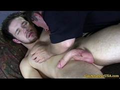 Straight guys first ass play at massage