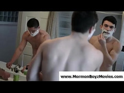 Gay Mormon teen boys stripping out of underwear together