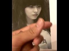 Hot Korean Actress Gets Cum Tribute