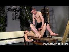 Gay men anal dildo movietures Aaron use to be a gimp stud himself