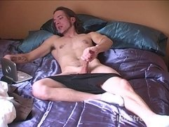 Tattooed Straight Guy Holland Masturbating