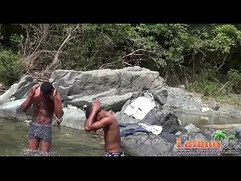 Fun loving gay Latinos in outdoor anal one on one