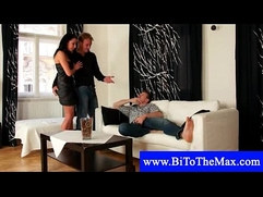 Bisexual guy loves sex with couple