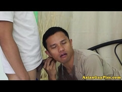 Cocksucking asians piss on each others face