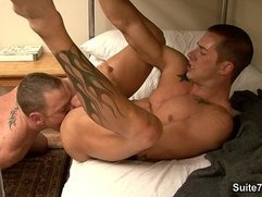 Tattooed gays fucking their asses hard
