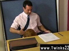 Hot gay scene Teacher Mike Manchester is working late, but he's got