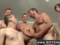 Gay gangbang cum eating boy movie Kriss Kross the Bukkake Boss