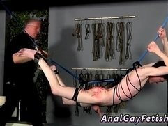 Bondage fisting male and homo emo gay twink in bondage Master