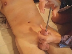 insertion aiguille needle tricot femdom inside cock cum
