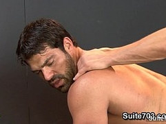 Hot jocks fucking tight buttholes in the gym
