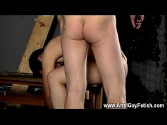Teen boobs gay feeding movie Tied down to the bench with his fuckhole