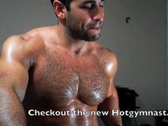 Sexy Hairy Cumshot on chest!