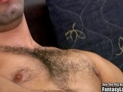 Hairy Latin Punk Beats His Cock On Couch