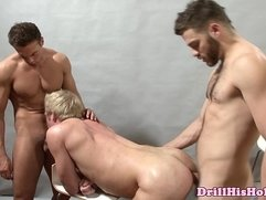 Powerful tops fucking in threesome