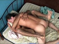 Two hot gay Mexican latino men fuck bareback