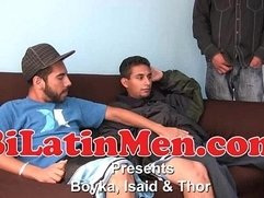 Hot Latino 3 way fucking sucking